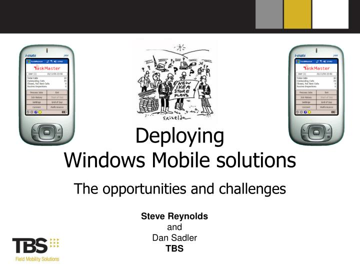 deploying windows mobile solutions n.