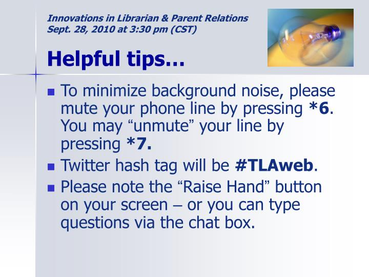 Innovations in Librarian & Parent Relations