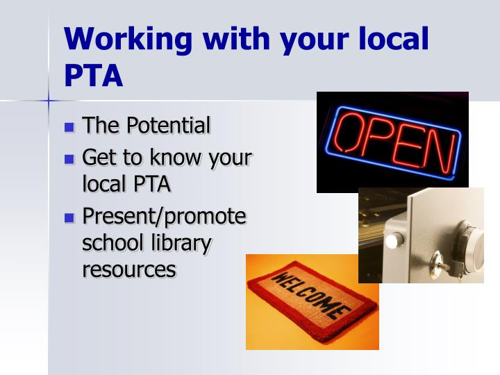 Working with your local PTA