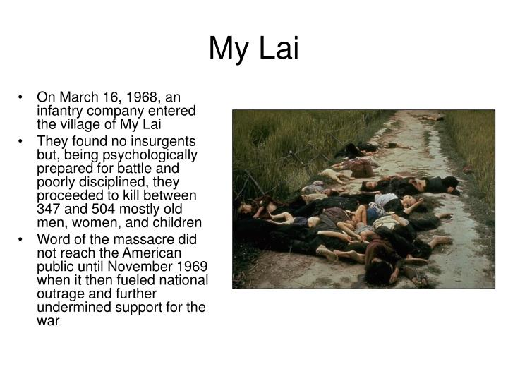 an analysis of the events in the my lai massacre