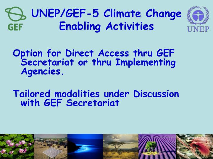 UNEP/GEF-5 Climate Change Enabling Activities