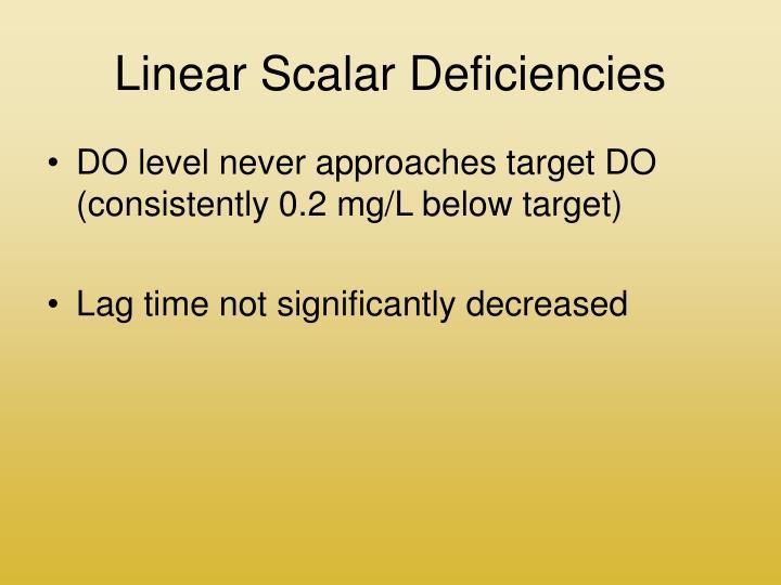 Linear Scalar Deficiencies
