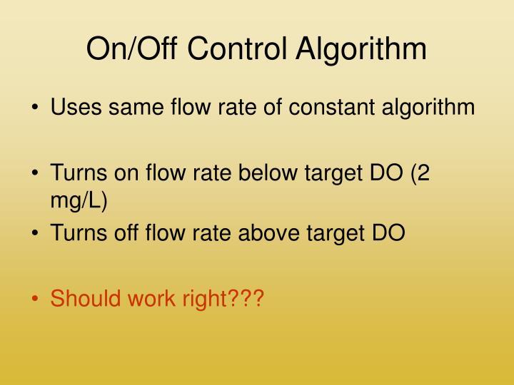On/Off Control Algorithm
