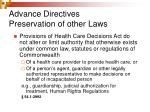 advance directives preservation of other laws