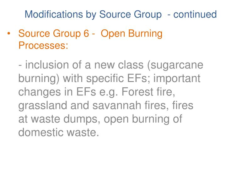 Source Group 6 -  Open Burning Processes: