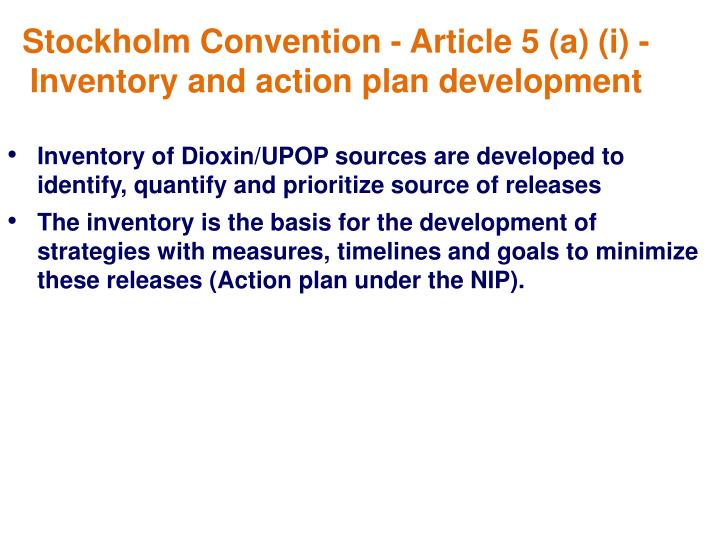 Stockholm Convention - Article 5 (a) (i) -