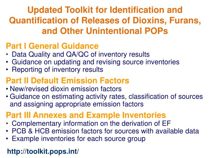 Updated Toolkit for Identification and Quantification of Releases of Dioxins, Furans, and Other Unintentional POPs