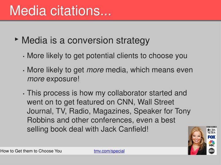 Media citations...