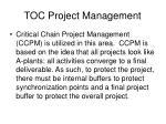 toc project management
