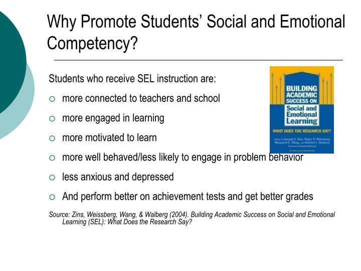 Why Promote Students' Social and Emotional Competency?