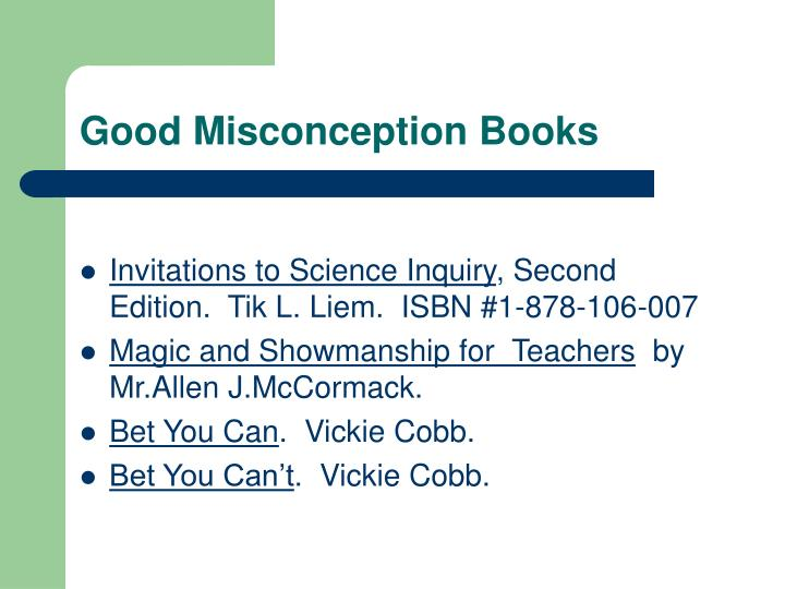 Good Misconception Books