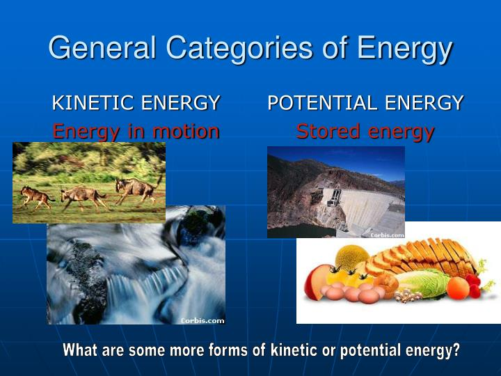 General categories of energy