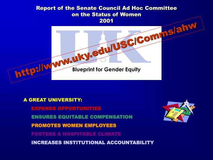 Report of the Senate Council Ad Hoc Committee