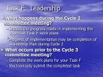 task f leadership