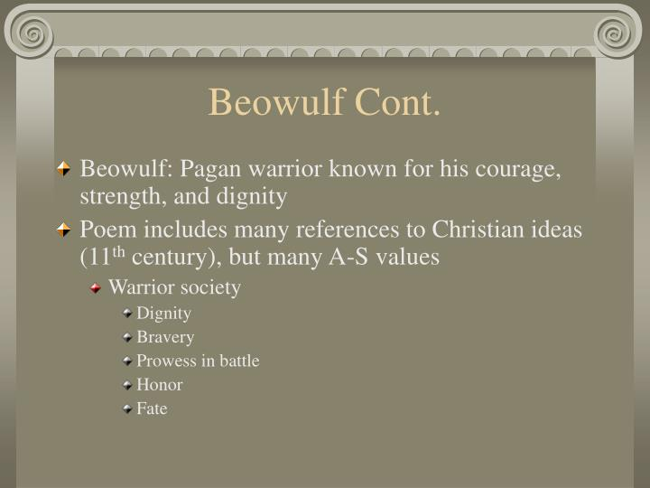 Beowulf Cont.