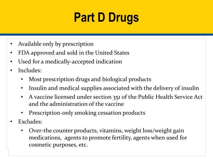 Part D Drugs