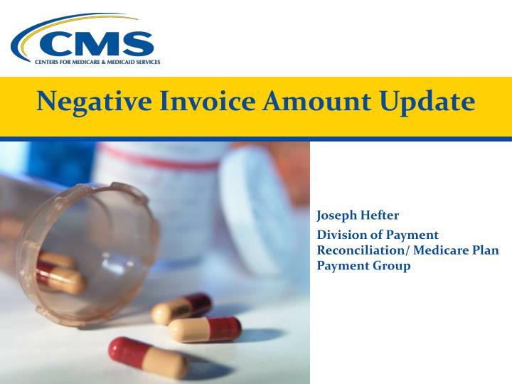 Negative Invoice Amount Update