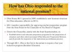 how has ohio responded to the national pressure
