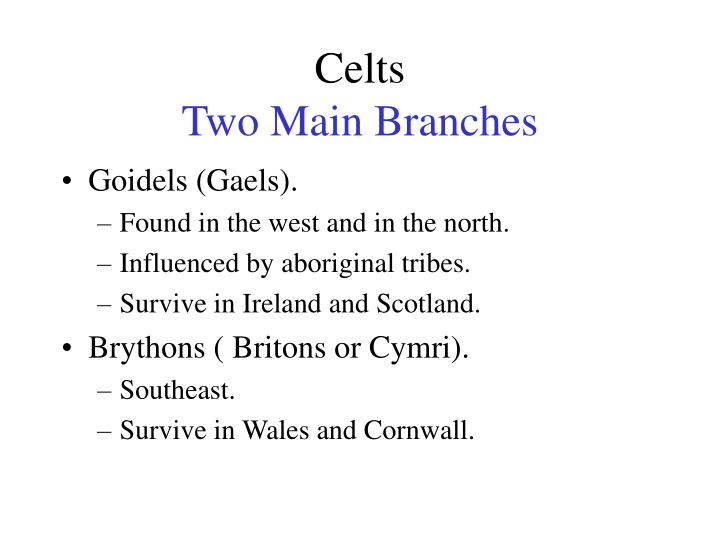 Celts two main branches