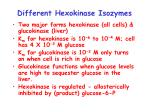 different hexokinase isozymes