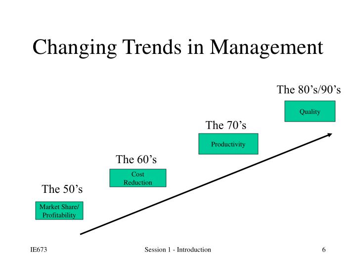 Changing Trends in Management
