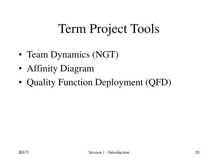 Term Project Tools