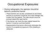 occupational exposures1