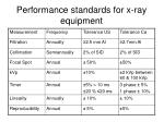 performance standards for x ray equipment