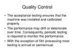 quality control1