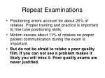 repeat examinations1
