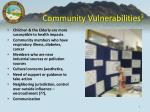 community vulnerabilities 3