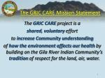 the gric care mission statement