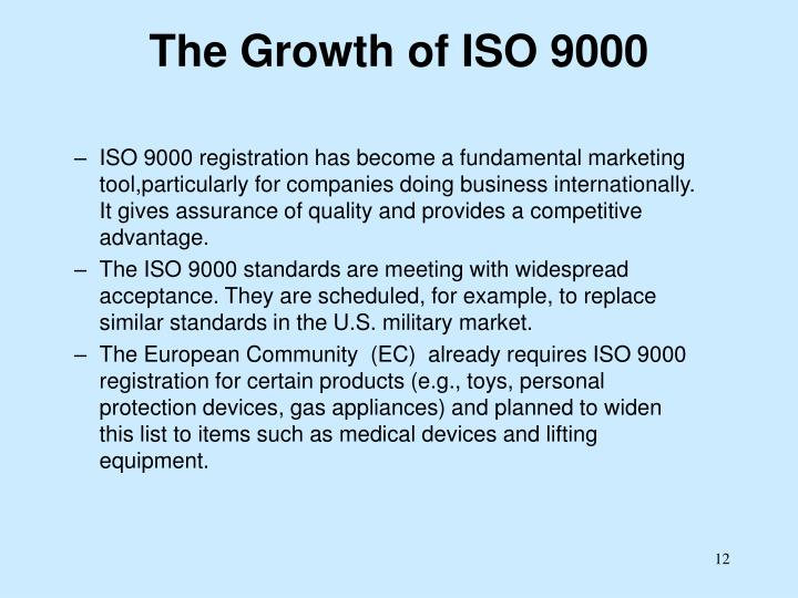 The Growth of ISO 9000