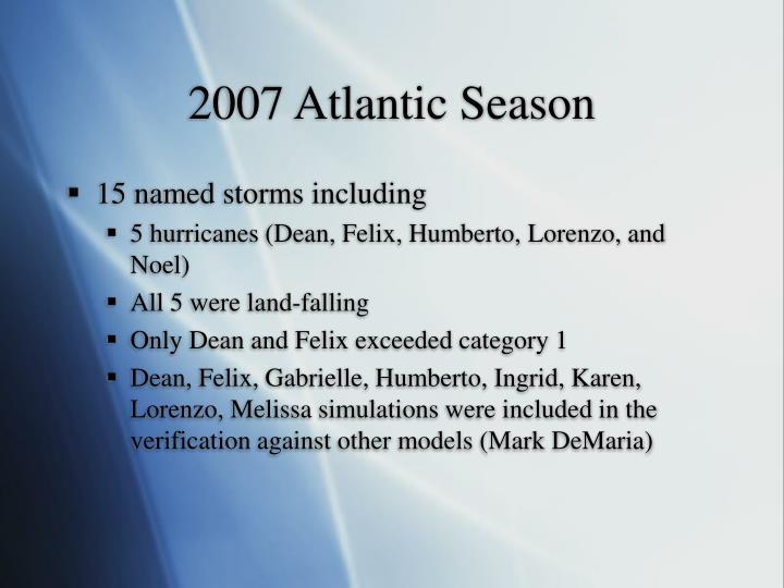 2007 Atlantic Season