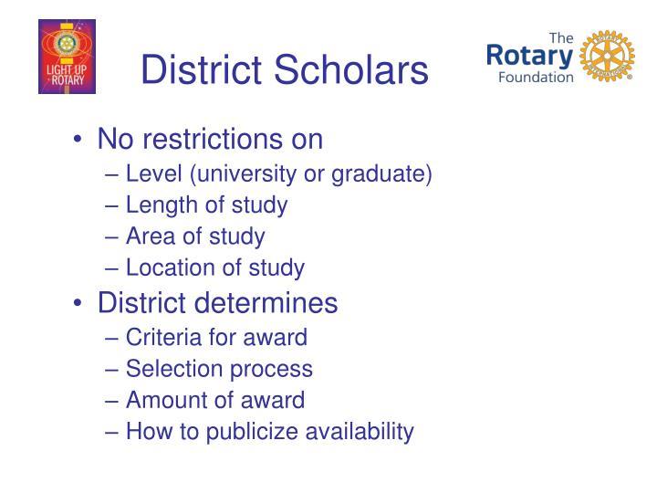 District Scholars