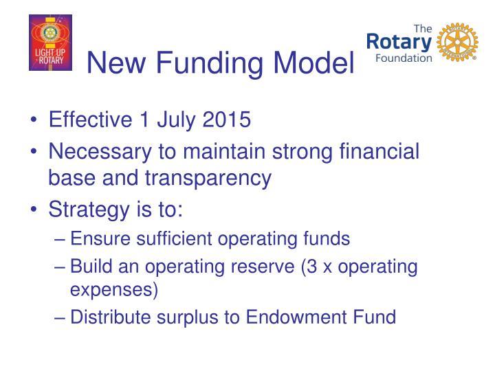 New Funding Model