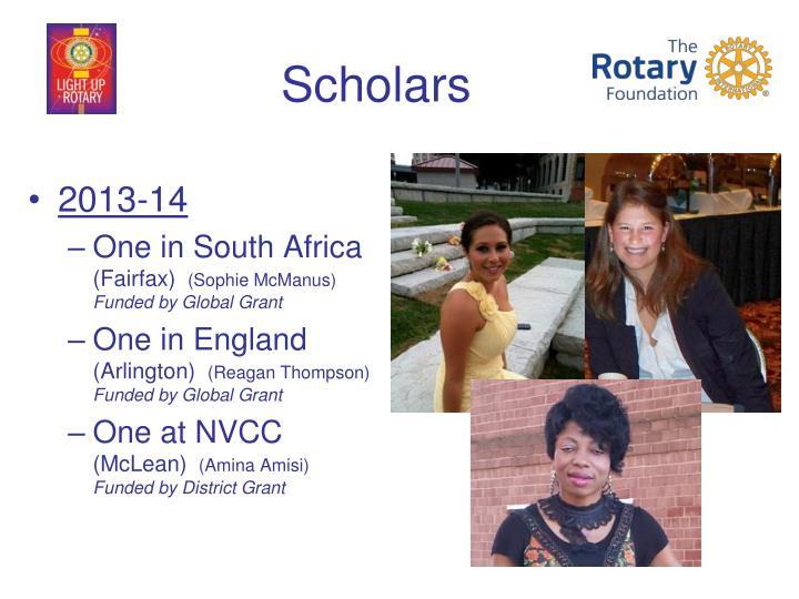 Scholars