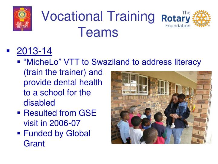 Vocational Training Teams