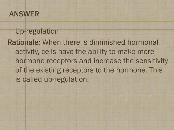 Up-regulation