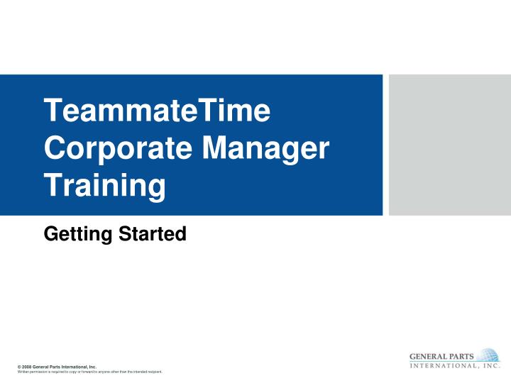teammatetime corporate manager training n.