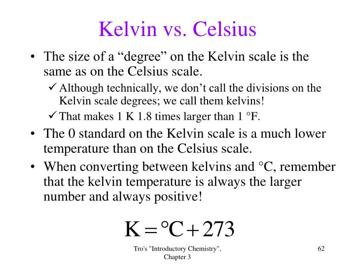 Kelvin vs. Celsius