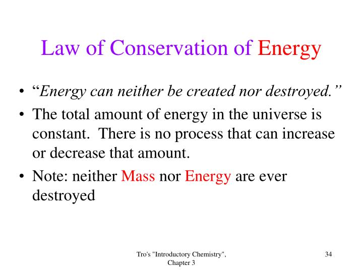 Law of Conservation of