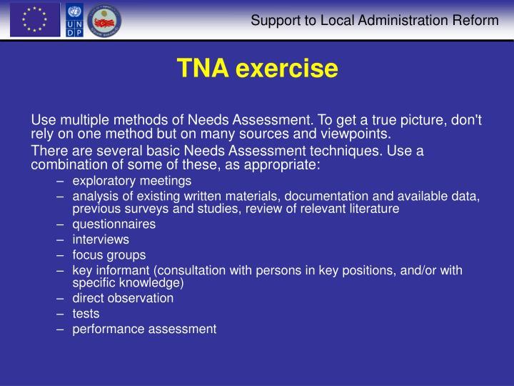 TNA exercise