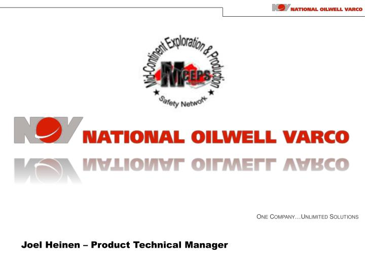 Joel heinen product technical manager