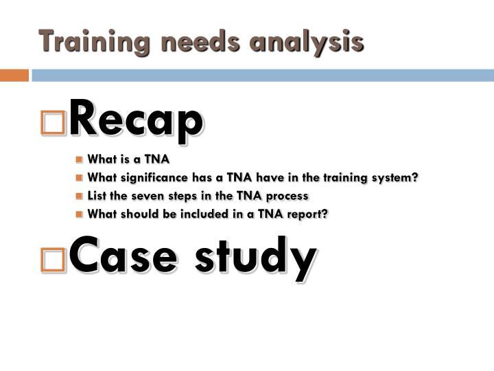case study of training need analysis