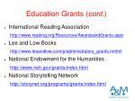 education grants cont