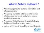 what is authors and more