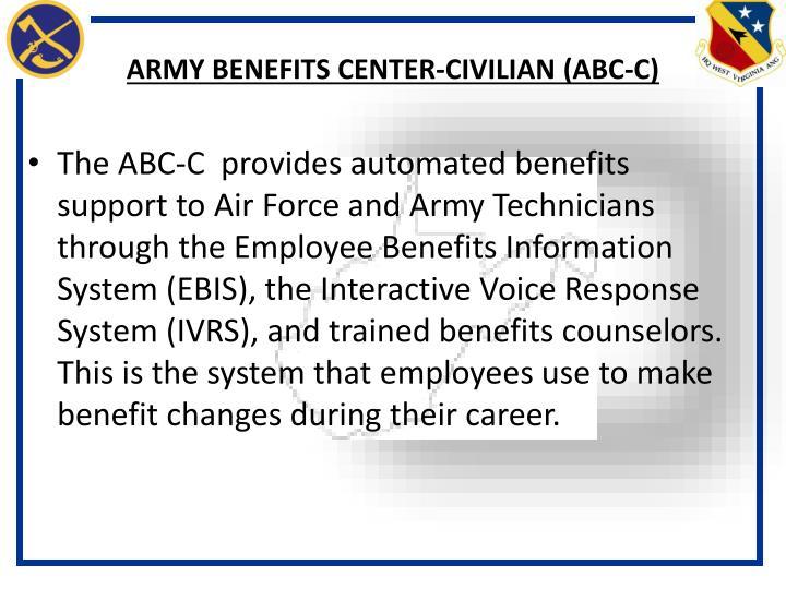 Army benefits center civilian abc c