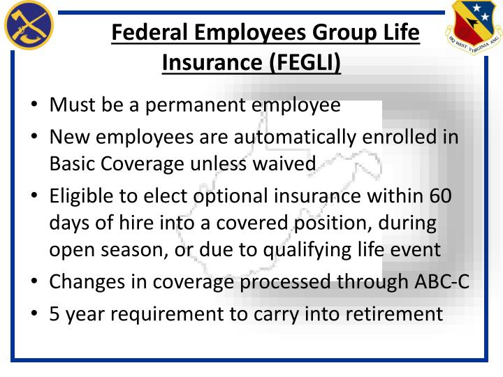 Federal Employees Group Life Insurance (FEGLI)