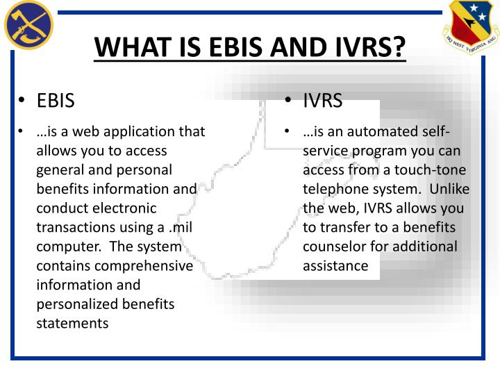 WHAT IS EBIS AND IVRS?